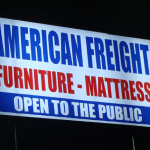 American Freight pylon sign_Knoxville, TN