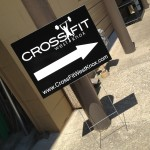 Crossfit vinyl and coroplast yard sign_Knoxville, TN